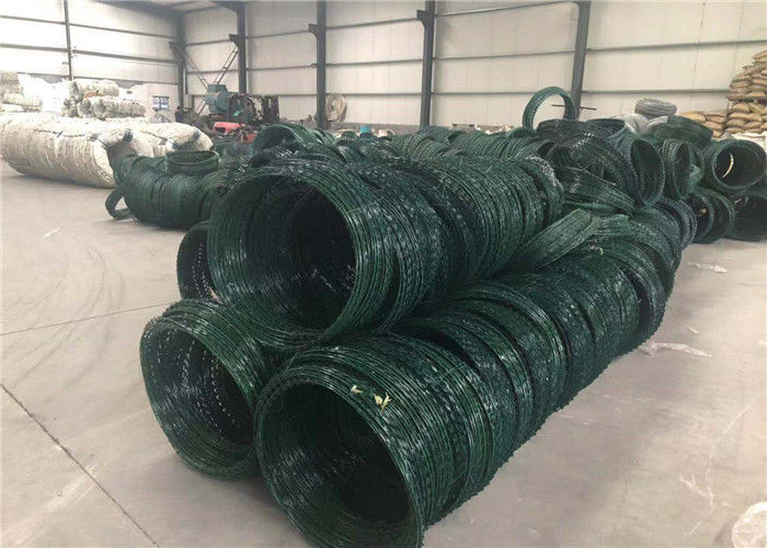 Powder Coated Galvanized Razor Wire Barbed Wire For Wire Mesh Fence
